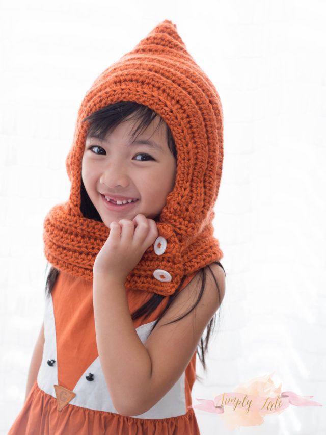 crochet, fall, crochet cowl, orange, fox