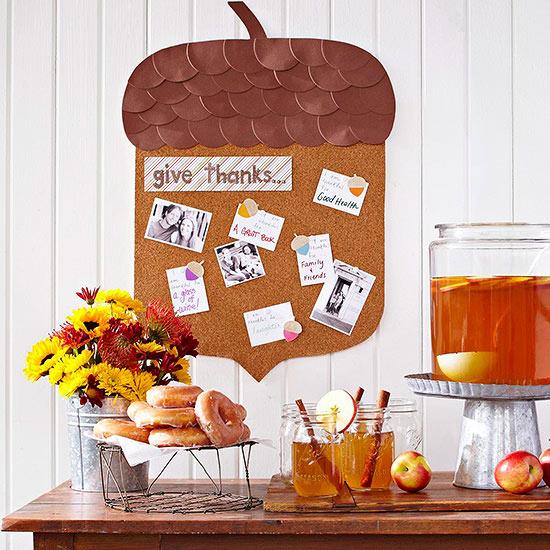 thanskgiving craft, thanksgiving, bhg, diy corkboard