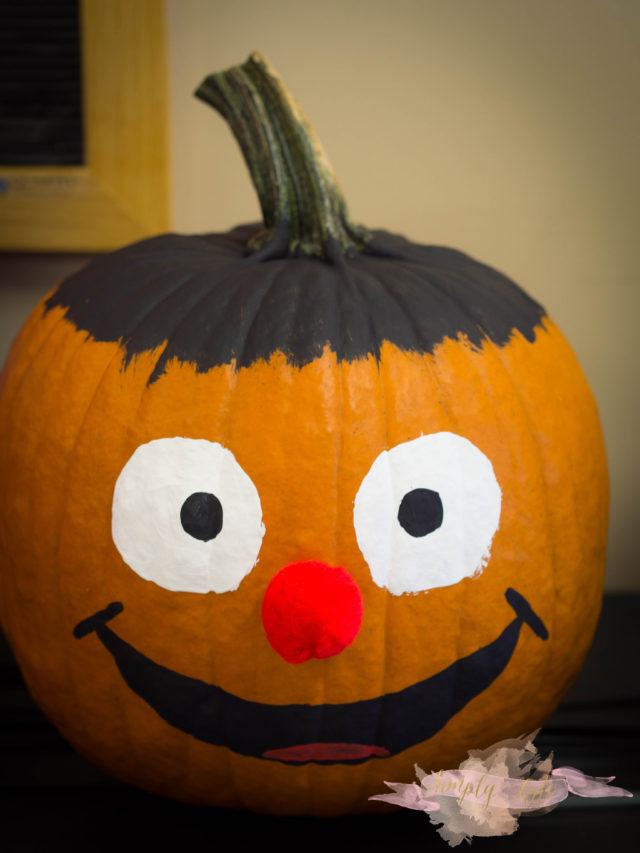 ernie, sesame street, pumpkin, halloween, cute pumpkin, pumpkin for preschooler