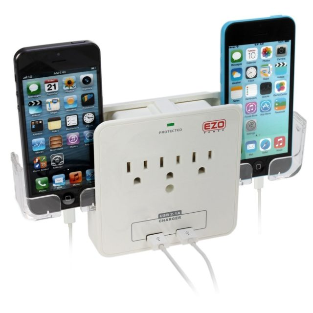 Power wall outlet, smartphone charger, smart gadget, christmas gift idea, stocking stuffer