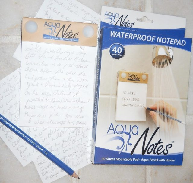 waterproof notepad, aqua note, christmas gift idea, stocking stuffer
