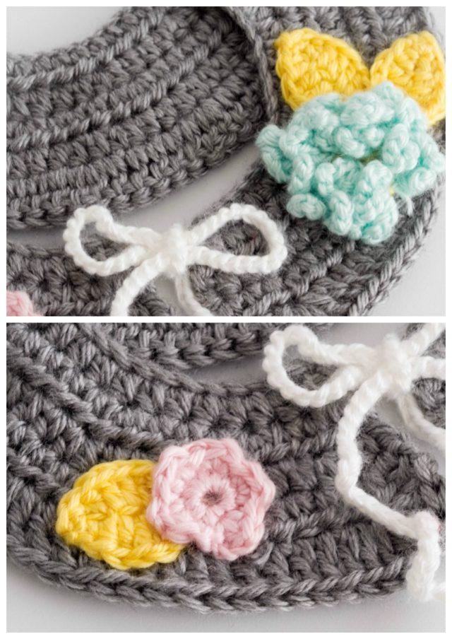 crochet, collar, removable collar, crochet collar, flower girl, fall