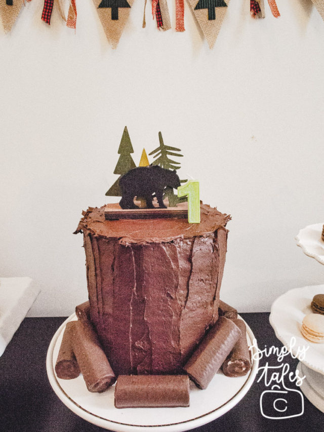 plaid, lumberjack,timber, wilderness, birthday, 1st birthday, birthday boy idea, birthday cake