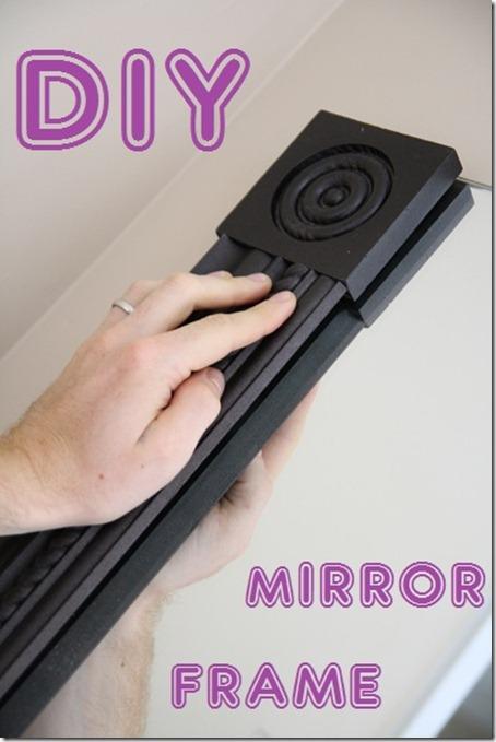 mirror frame, mirror makeover, tile frame, diy mirror frame