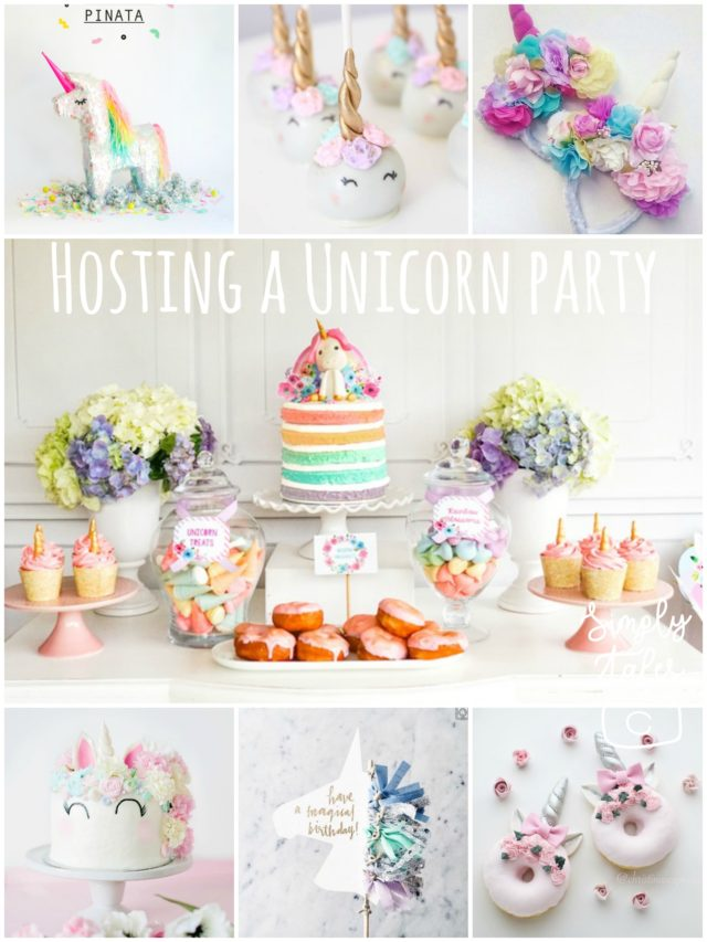donut, popsicle, unicorn, birthday party, unicorn cake, diy unicorn party, semi homemade, macaron, rainbow cake, dessert table, headband, unicorn pinata, cake topper, unicorn balloon, cakepop