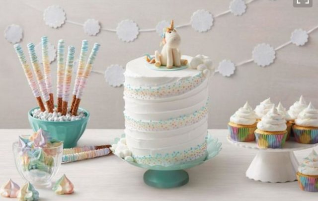 donut, popsicle, unicorn, birthday party, unicorn cake, diy unicorn party, semi homemade, macaron, rainbow cake, dessert table