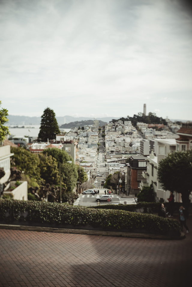 lombard street, lombard gardens, san fransisco, tram ride, lombard street