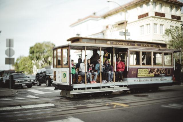 tram ride, lombard street, lombard gardens, san fransisco, tram ride, lombard street, cable car