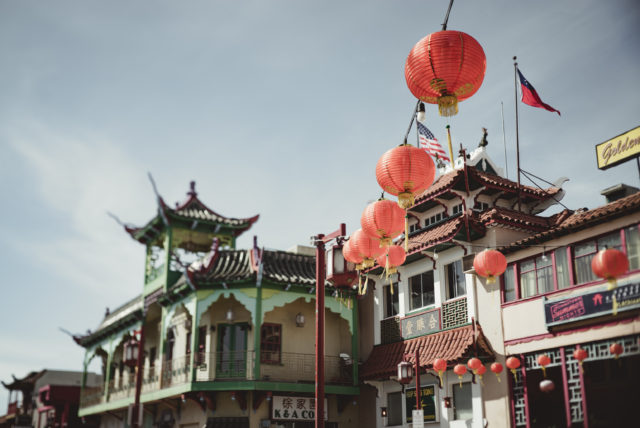 chinatown, los angeles, california, lantern