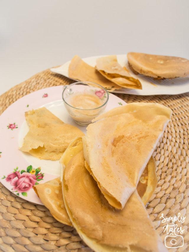 Indonesian dessert, lekker, pisang leker, crepes, indnesian street food, makanan masa kecil, enak, must try