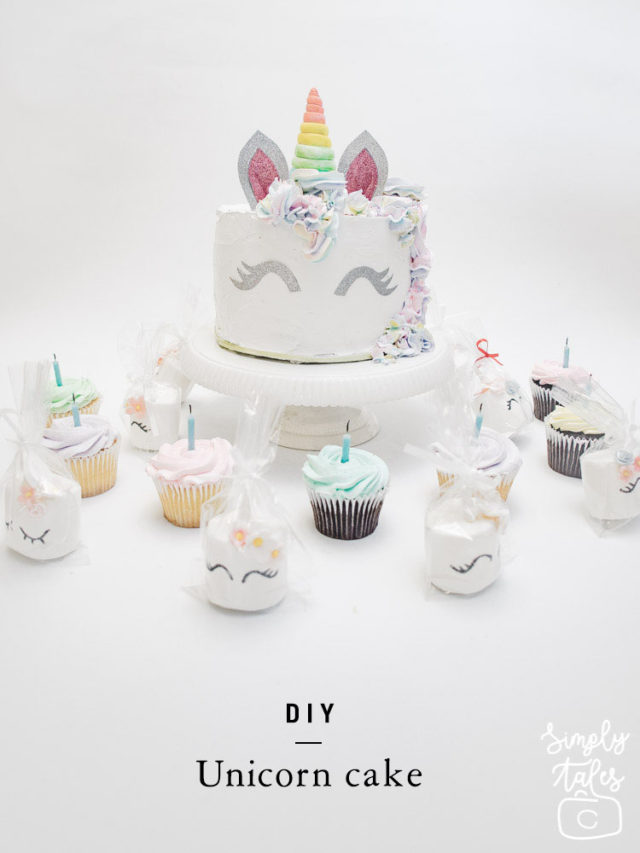 easy unicorn cake, diy cake, unicorn cake, homemade cake, easy cake