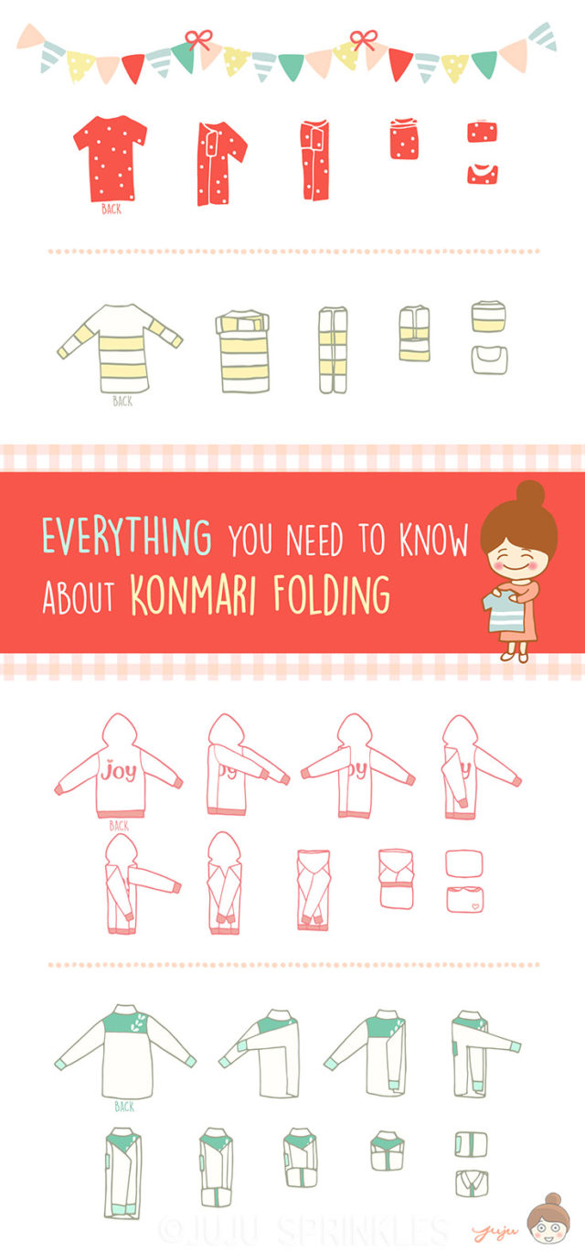 konmari, folding methods, tidy, laundry, marie kondo, no more clutter
