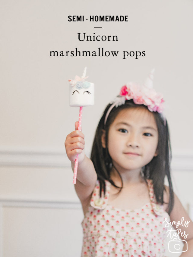 marshmallow pop, unicorn marshmallow pop, party favor, edible, homemade
