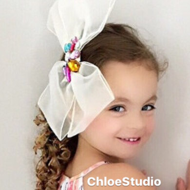 hair accessories, flower girl, big bow, pretty, wedding