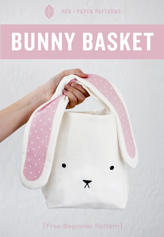 sewing, basket, bag, purse, bunny purse, rabbit purse, bunny basket, sewing for beginner