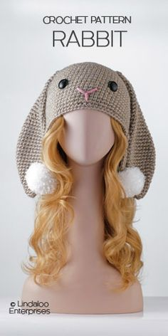Amigurumi Animal Hats Growing Up, book, crochet pattern, linda wright, rabbit hat, bunny hat