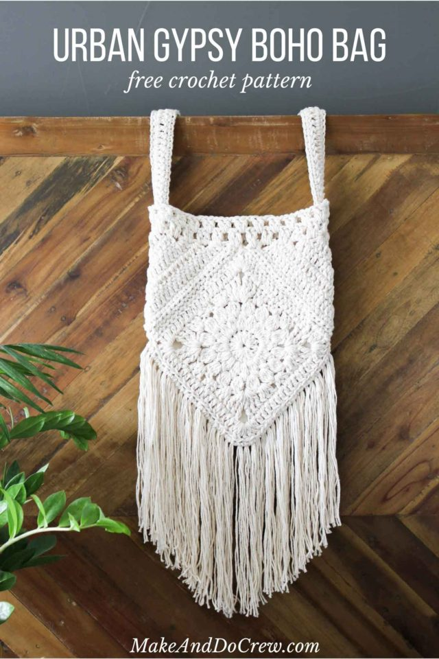 bohemian, boho, crochet bag, homemade, diy, purse
