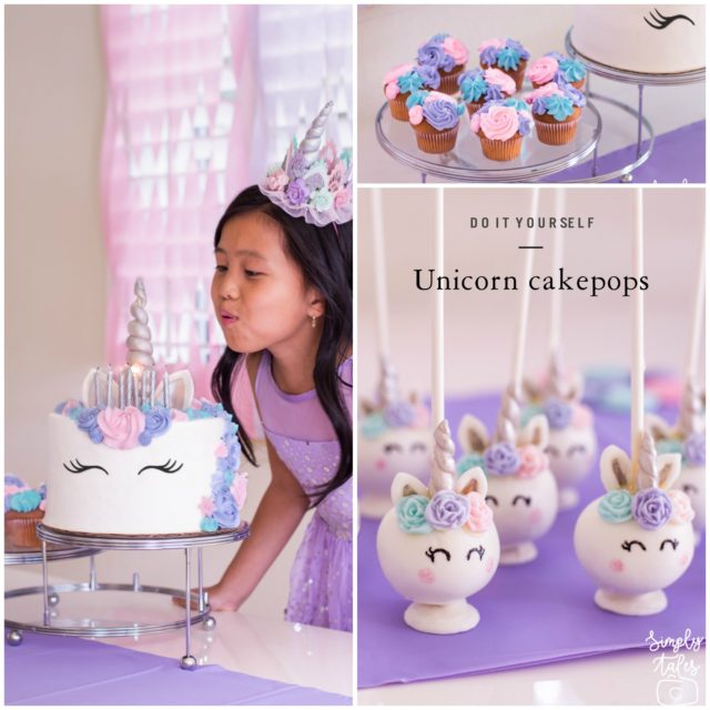 Unicorn Birthday Pink Purple And Teal Cake Pops