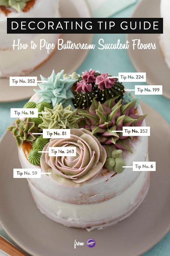 cactus, diy, succulent cake, minimalist, diy cake, wilton, icing tips
