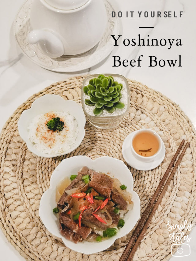 yoshinoya, beef bowl, recipe, diy yoshinoya, japanese food, cheap food, yummy food