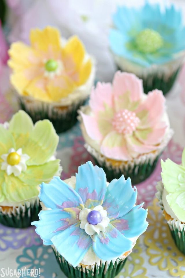 pretty cake, pretty cupcake, chocolate flowers