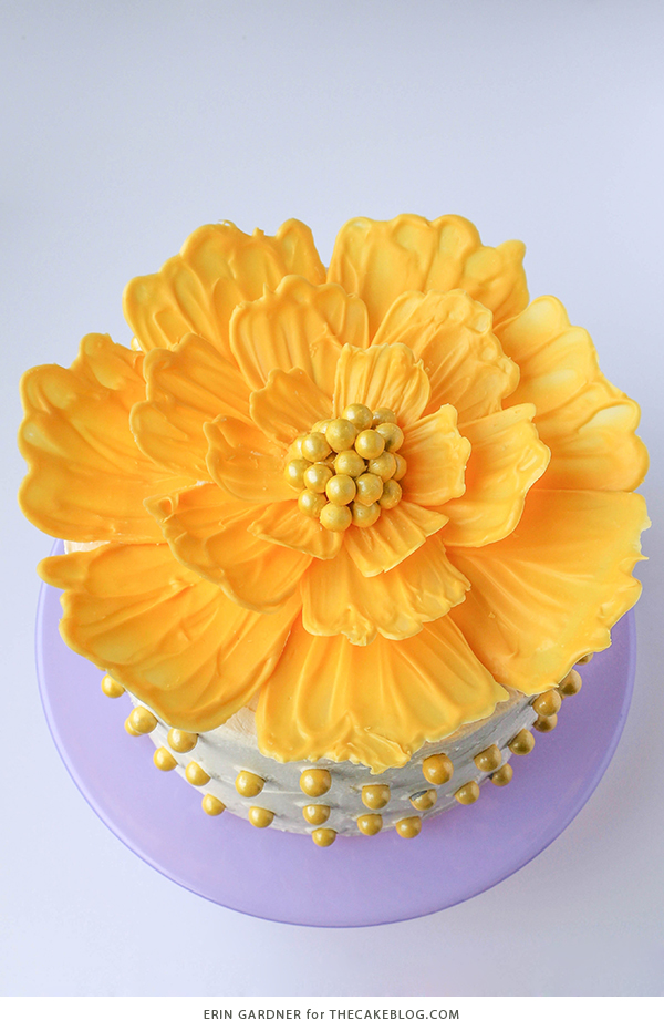 chocolate flowers, diy flower cake, flower cake