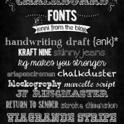 15 chalkboard font