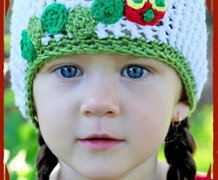 Hungry Caterpillar crochet hat beanie
