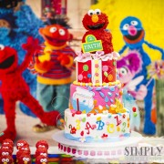 lmo dessert table, Elmo cake