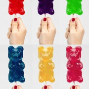 Gummy bear on stick