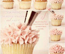 basic cupcake decorating, hydrangea cupcake