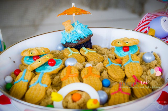 sandal cookie, beach cookie, beach dessert