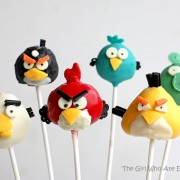 angry bird, angry bird cakepops