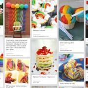 rainbow birthday, rainbow snack, rainbow
