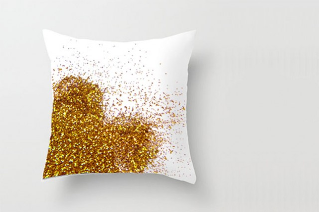 decorative pillow, diy pillow, christmas gift, glitter pillow