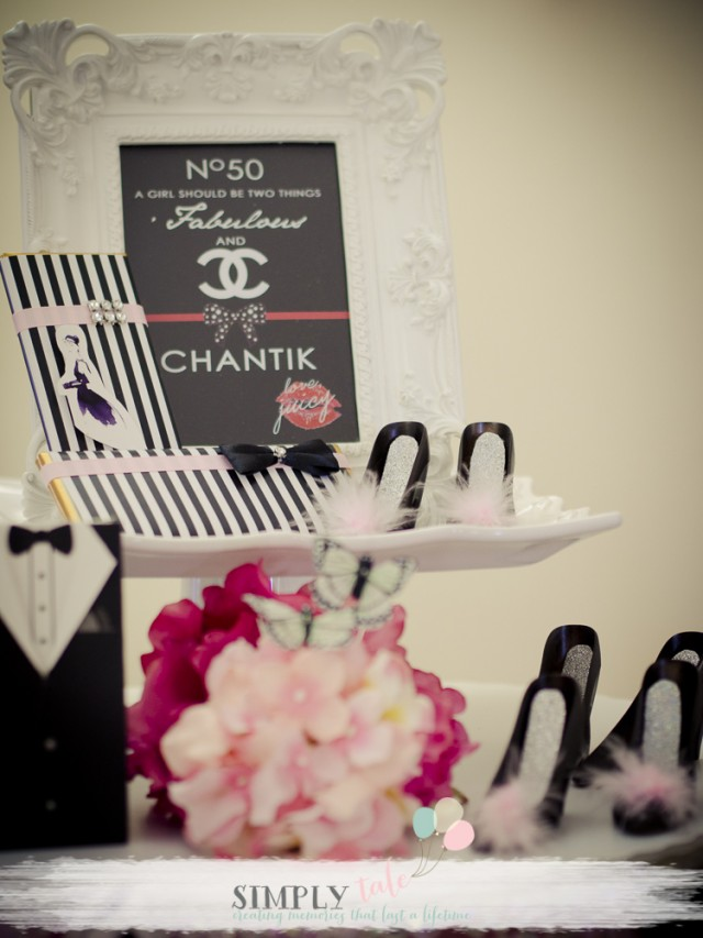 chanel birthday, paris birthday, paris dessert table