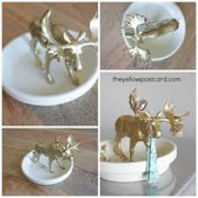 animal jewelry holder, diy jewelry holder, ring holder, anthropologie trinket dish