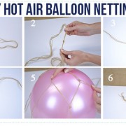 hot air balloon, diy hot air balloon, hot air balloon netting