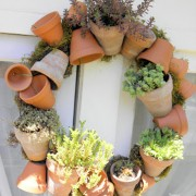 pot wreath, succulent wreath