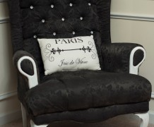 fabric paint, fabric spray paint, how to paint fabric, wing back chair, upholstery
