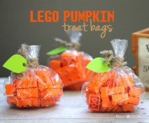 treat or trick, halloween, no candy treats, necklace, beads and strings, lego, pumpkin lego, lego for halloween