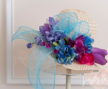 spring hat, derby hat, kentucky derby, diy hat, spring