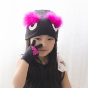 Fendi inspired, monster beanie, bag bug beanie, little monster beanie