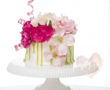 dripping cake, valentines cake, easy cake, cake for beginner