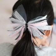 ribbon, tulle, scarp ribbon, scrapbooking, bow, hair accessories, easy bow, hair bow