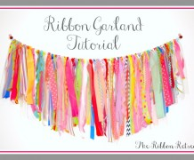 ribbon garland, garland, scrap ribbons