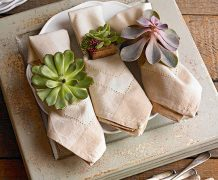 succulent, napking rings, fall, diy napkin rings