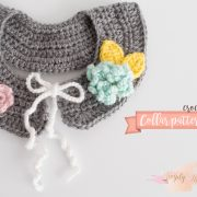 crochet, collar, removable collar, crochet collar, flower girl, fall