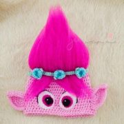 crochet, hats, poppy, trolls, crochet hat, christmas gift
