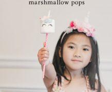 marshmallow pop, unicorn marshmallow pop, party favor, edible, homemade